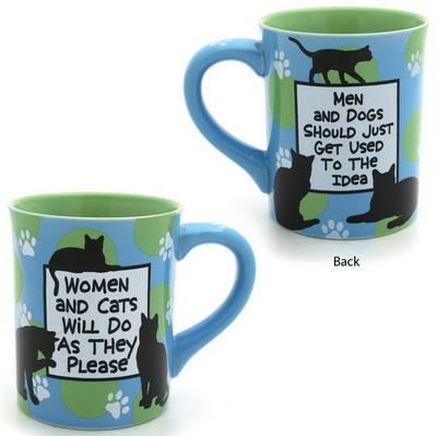 Cat Mugs and Cat Glassware