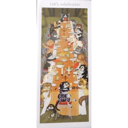Greeting Card - A Feline Celebration