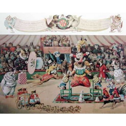 The Cats Circus by Louis Wain