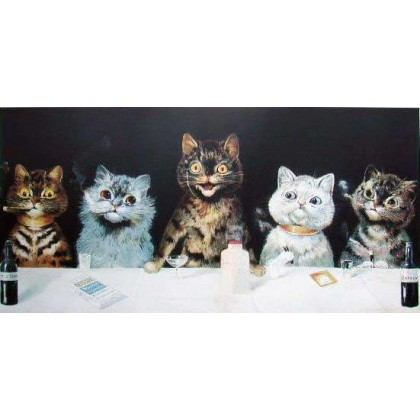 The Batchelor Party by Louis Wain