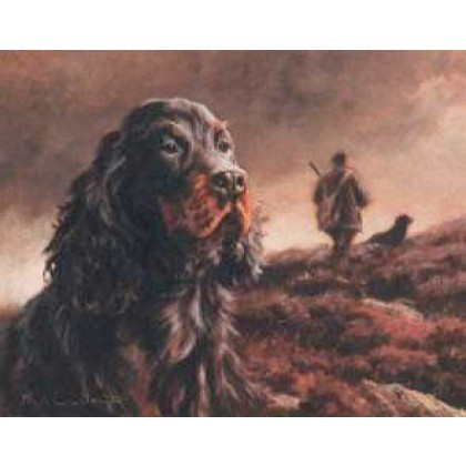 Head of a Gordon Setter by Mick Cawston