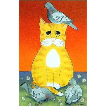 Cat Amongst the Pigeons...Homer by Sue Hemming