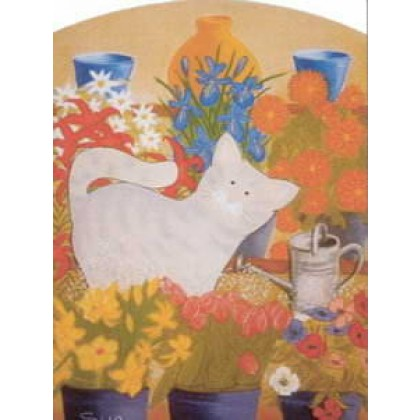 The Florist's Cat, Blossom by Sue Hemming