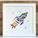 Rocket Blast – Cut out Artwork – Framed