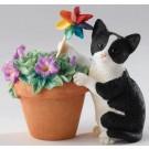 Kitten with Petunias