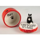 Cat is a Person Covered Box by Enesco Ltd