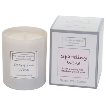 Handmade Natural Soy Sparkling Wine Scented Candle