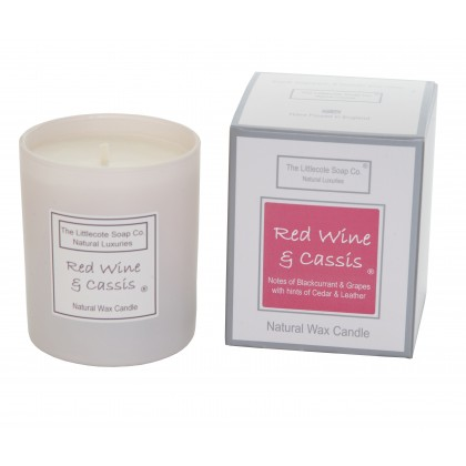 Handmade Natural Soy Red Wine and Cassis Scented Candle