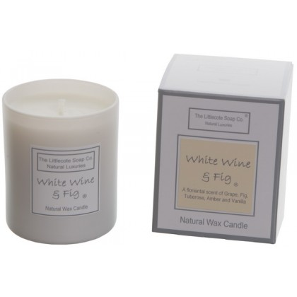 Handmade Natural Soy White Wine and Fig Scented Candle