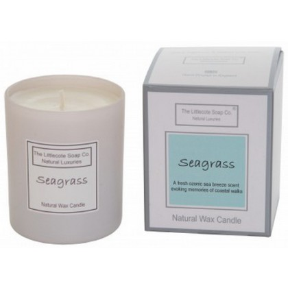 Handmade Natural Soy Seagrass Scented Candle
