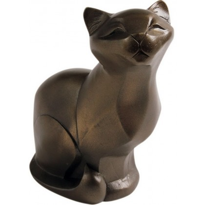 Cat Sitting - In Cold Cast Bronze