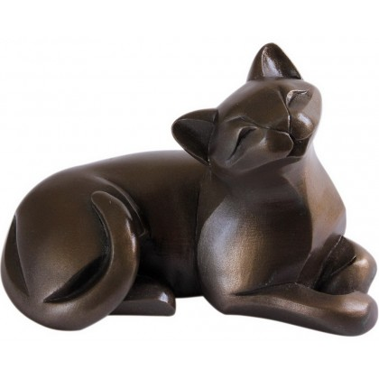 Cat Lying -  In Cold Cast Bronze