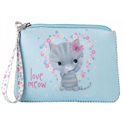 Little Meow Wristlet Purse