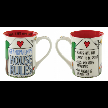 Grandparents House Rules - Mug