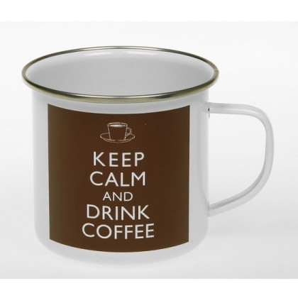 Keep Calm and Drink Coffee - Tin Mug