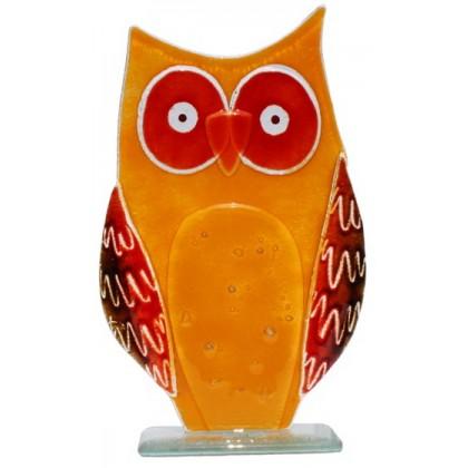 Large Owl - Oliver - Fused Glass Figure