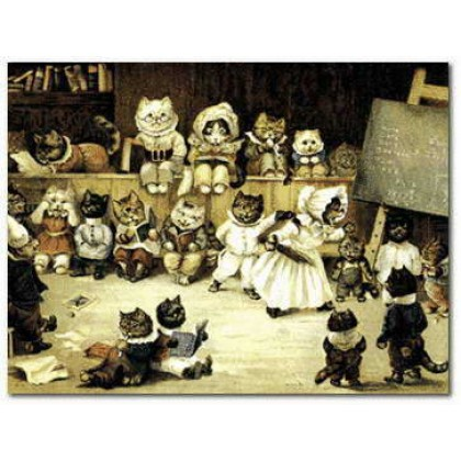 Tabitha's Cat's Academy by Louis Wain