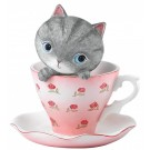 Teacup Kitten - Figurine