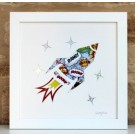 Rocket Blast – Cut out Artwork – Framed