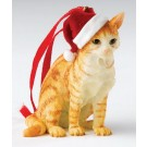 Ginger Tabby Sitting - Christmas Hanging Ornament by Country Artists - Enesco Ltd