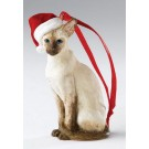 Siamese Sitting - Christmas Hanging Ornament